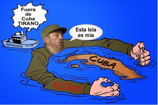 """Get out of Cuba TYRANT"" / This island is MINE"""